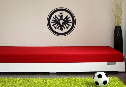 alenio Wandtattoo – Eintracht Frankfurt Logo schwarz, 38 cm Durchmesser
