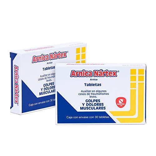 Arnica 30 Tabletas. C/U, Auxiliar para moretones, golpes, traumatismos leves y desinflama internamente. 2 cajas