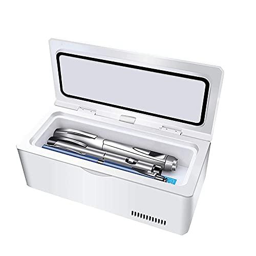 YQDSY Refrigerador Pequeño, Mini Nevera Refrigerador Caja Portátil Control Inteligente Led Recargable Coche Dual Uso Portátil Portátil Pequeño Refrigerador Elektronische Halfgeleider Koelk