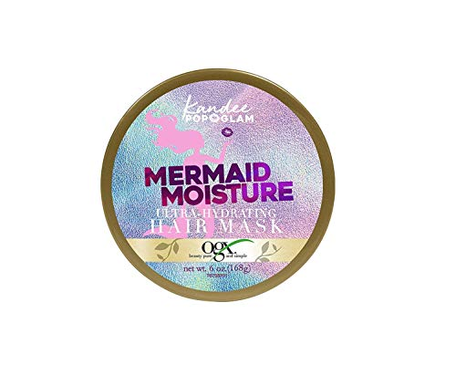 OGX Kandee Johnson Collection Mermaid Moisture Deep Conditioning Hair Mask for Color-Treated Hair, Sulfate-Free Surfactants Moisturizing Treatment for Dry Damaged Hair, 6 oz, Floral