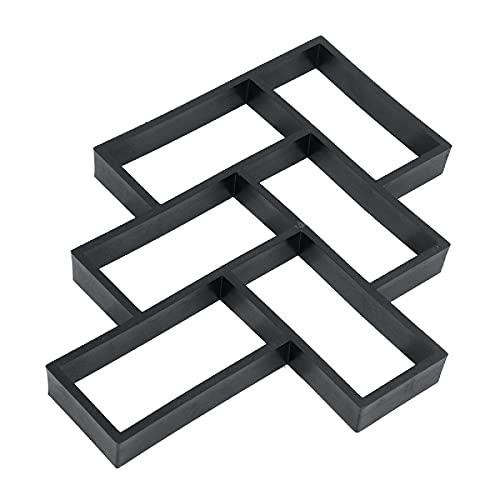 LLKK Molde de pavimento reutilizable para el suelo, para hacer caminos de jardín, pizarra, cemento, ladrillo, molde para pavimentación de jardín, patio, balcón