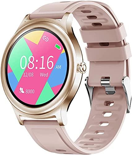 JSL Reloj inteligente de fitness con monitor de frecuencia cardíaca, contador de calorías, monitor de sueño IP67, resistente al agua, reloj inteligente 1 28