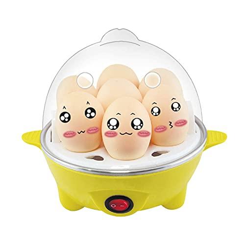 Vaporera eléctrica para huevos cocidos, vaporera para huevos cocidos calientes, almuerzo y...