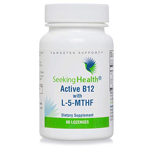 Seeking Health Active B12 with L-5-MTHF, 60 Lozenges, Vitamin B12...