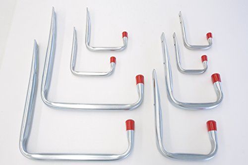 VORMANN Wandhaken U-Form, 8-teiliges Set, 4 Größen, Made in Germany
