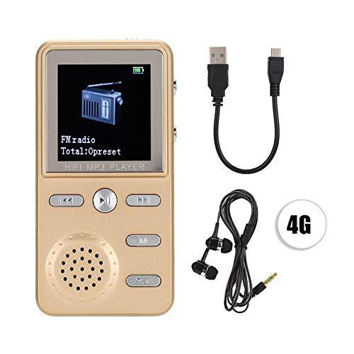 MP3-speler, 1,41-inch LCD-scherm Draagbare MP3-speler, verliesvrij hifi-geluid, muziekvideospeler, ondersteuning voor wekker / alarmfunctie, inclusief muziekhoofdtelefoon (4 GB)
