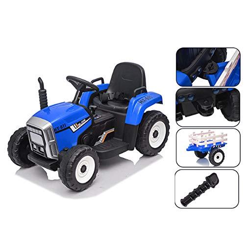 Tractor Pedal con Remolque para Niños 3-8 años, Tractor Eléctrico con Cambio...