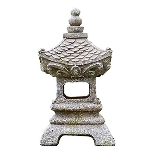 Ro6ph Garden Lights Solar Japanese Style Asian Decor Pagoda Solar Powered LED Outdoor Decor Garden Light