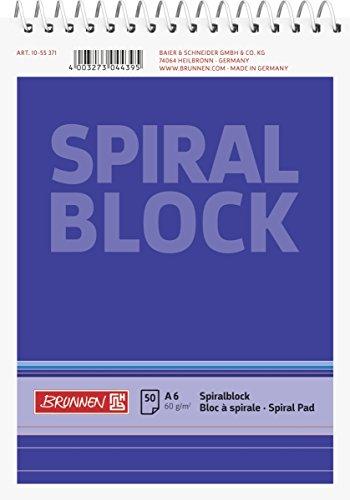Brunnen 1055371 Spiralblock / Notizblock (A6, liniert, 50 Blatt, 60g/m²)
