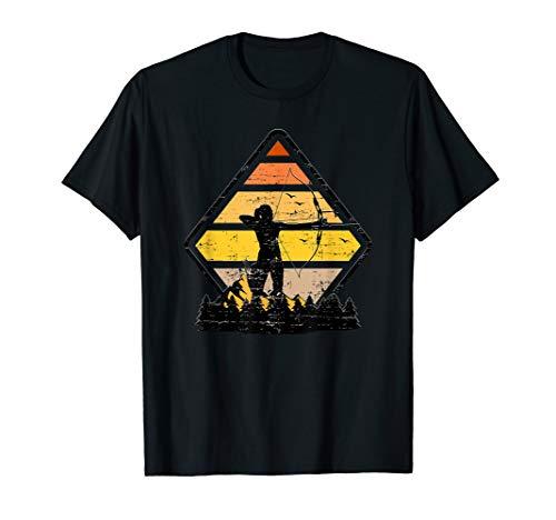 Bogenschützin I Bogenschießen Zielscheibe Pfeil und Bogen T-Shirt