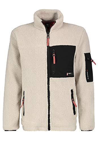 Sublevel Herren Utility Fleece-Jacke mit Reißverschluss Light-beige M