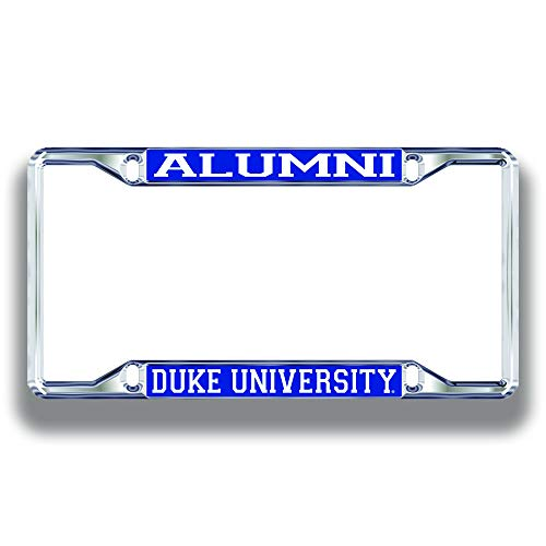 Elite Fan Shop Duke Blue Devils License Plate Frame Alumni - Silver