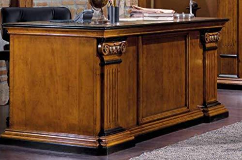 Dafne Italian Design Klassischer Schreibtisch für Studio, 190 cm – 80 cm – 90 cm (B x H x T)