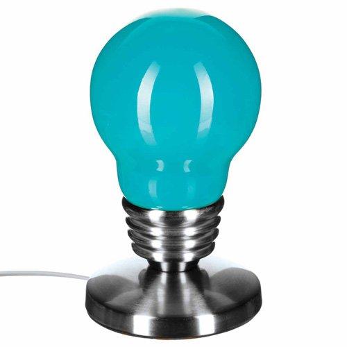 Lámpara Touch bombilla–H. 21,5–turquesa