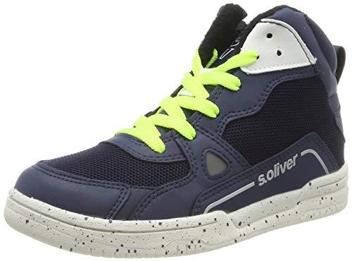 s.Oliver 5-5-45100-23 Hohe Sneaker, Blau (Navy Comb. 891), 39 EU