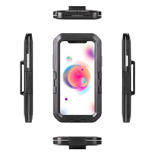 Soporte Impermeable Para Teléfono, Motocicleta, Bicicleta, Soporte Para Teléfono, Soporte, Bolsa, Silicona ABS Para Carcasa Impermeable IPX8(para iphoneXS MAX)