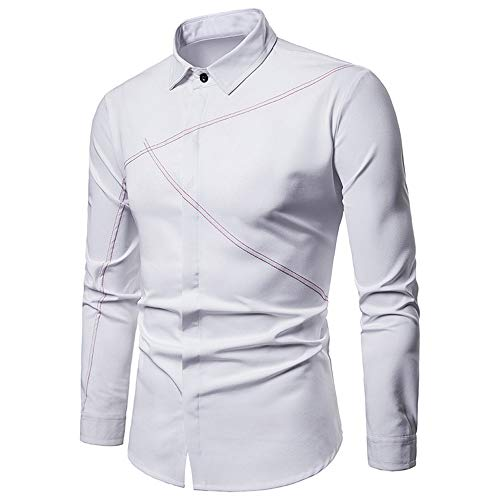 ZYYM Mens Casual Shirts Formal Long Sleeve Solid Color Turn Down Collar Shirt Oxford Shirts Dress Shirt Business Button Up Shirts Dress Tuxedo Bow Tie Shirt Slim Fit Pleated Wedding Prom