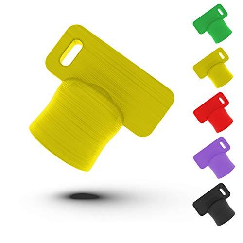 Liebspecht® Premium Teiglöser für Thermomix TM6 und TM5 [Made in Germany] - Das optimale Thermomix Zubehör - Die Teigblume für Ihre Küchenmaschine von Vorwerk -TM5, TM6 Zubehör (Gelb)