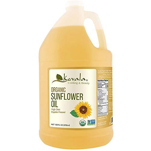 Kevala High Oleic Organic Sunflower Oil, 1 Gallon