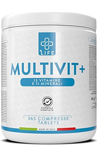 Multivitaminico Completo Multiminerale Piulife  365 Compresse con 24 Vitamine e Minerali Essenziali Formato Famiglia  Integratore Multivitaminico per Donna, Uomo e Bambini