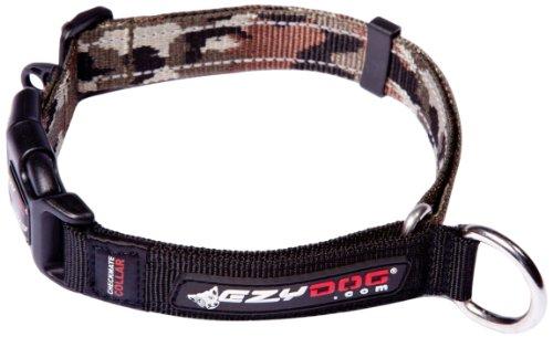 EzyDog Checkmate Hundehalsband - Halsband Hund - Zugstopp Halsband für Hunde - Zughalsband für hunde - Trainings und Dressurhalsband. Schlupfhalsband für Große, Mittlere und Kleine Hund (S, Camo)