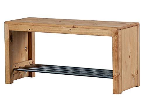 casamia Zapatero 81 x 40 x 30 cm con asiento natural Picco Pinie Nordica color roble