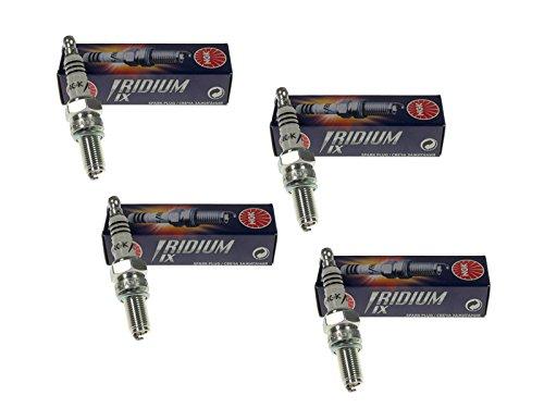 Preisvergleich Produktbild Zündkerze Set 4 Stück NGK Iridium CR7EIX für Arctic Cat Kawasaki Kymco TGB