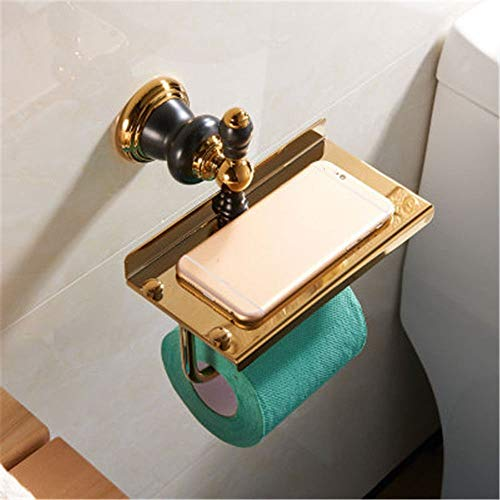 Baño de cobre Negro Baño de oro viejo Toalleros Kit de toallero,papel higiénico 3