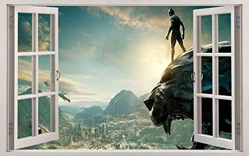 Wandtattoo Black Panther Superfilm Held 3D Fenster Aufkleber Wandaufkleber Home Decoration Art