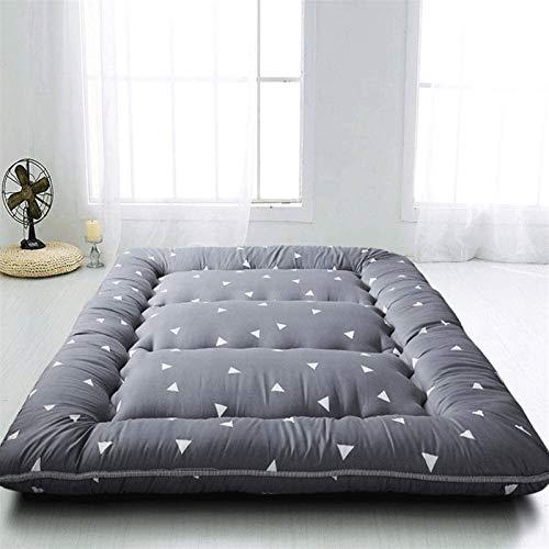 dongyu Colchón de esponja de tatami de color puro, colchón de piso extra grueso, colchón de piso, plegable, tatami, colchón portátil de camping (tamaño: 180 x 200 cm, color: A)