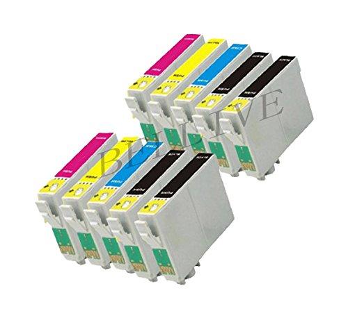 10 Cartucce compatibili per Stampante EPSON T1281 T1282 T1283 T1284 Stylus S22 SX125 SX420W SX425W SX130 SX440W SX445W SX235W SX435W SX230 SX430W