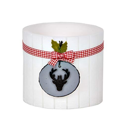 holzalbum Paper-Media Lot de 5 photophores ovales en Bois avec photophore 14,5 x 13,5 cm 135 x 145 mm