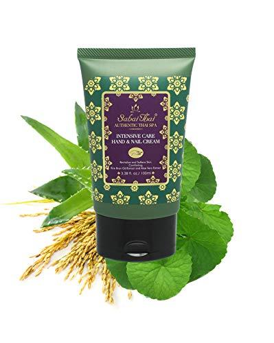 Sabai Thai Natürliche Intensive Reismilchduft Hand- & Nagelcreme 100ml, Handcreme Für Rissige Hände
