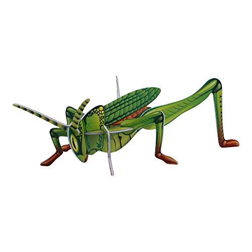 ELECTRÓNICA REY Puzzle 3D Colección Insectos, Modelo Saltamontes