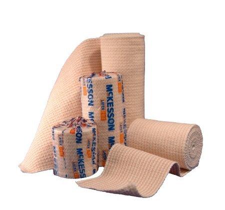 McKesson 16-1033-4 Medi-Pak Knit Elastic Bandage, Premium, Single Self-Closure, Honeycomb, Non-sterile, Stretched, 4' W x 5yd. L, 4' Width, 180' Length (Pack of 50)