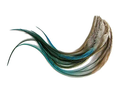 1 Dozen - Medium Twilight Blendz Rooster Saddle Whiting Hair Extension Feathers Fly Tying Supply | Moonlight Feather