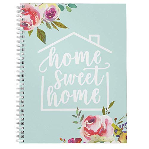 Softcover Home Sweet Home 8.5' x 11' Quarantine Spiral Notebook/Journal, 120 College Ruled Pages, Durable Gloss Laminated Cover, Gold Wire-o Spiral. Made in the USA