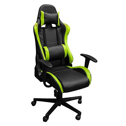 JBM rotative, Chaise Gaming, Noir et Vert, Unique