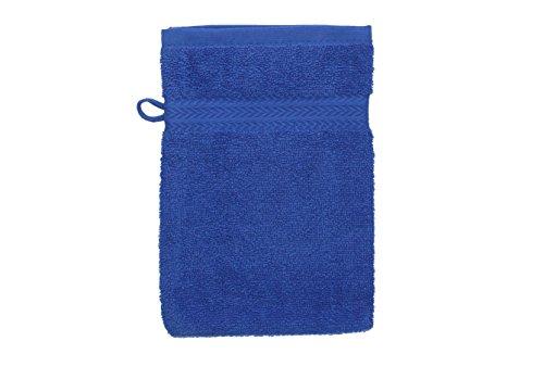 Betz Gant de Toilette pour Visage Corps Gant de Toilette Taille 16x21 cm 100% Coton Premium Couleur Bleu
