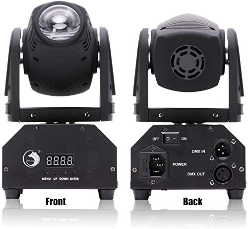 U`King LED Moving Head Light RGBW Beam Lights with DMX for Show DJ Disco Events Party Stage Lighting