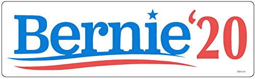 Bumper Planet - Bumper Sticker - Bernie '20, Sanders Election Campaign - 3 x 10 inch - Vinyl Decal Professionally Made in USA