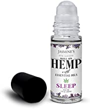 Jasmine's Herb Gardens Natural Calming Sleep Essential Oil Blend with Hemp Extract - Natural Sleep Aid, Calming & Relaxing, Roll On Applicator, 1 fl oz