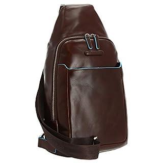 Piquadro Blue Square Sling Bag Ledertasche, Braun