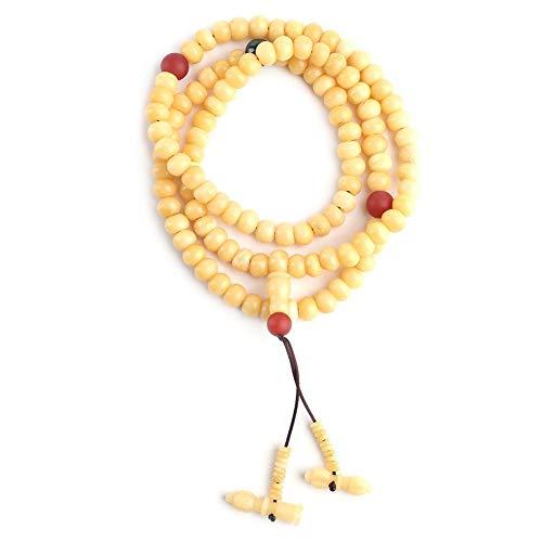 Yak bot Armband, 108 stuks parels armband Tibetaanse meditatie polsarmband Boeddha amulet mascott parels sieraad unisex parels armband collectie cadeau