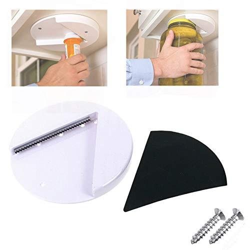 Grip Jar Opener, V Shaped Wedge Lid Bottle Cap Under The Cabinet Self-Adhesive Jar Bottle Opener, Arthritis Can Opener