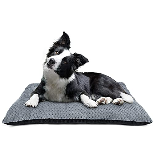 """INVENHO Large Dog Bed Crate Pad Mat Ultra Soft 24"""" Washable Large Medium Small Pet Beds Cat Beds Mattress Kennel Pads…"""