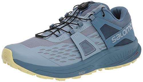 Salomon Women's Ultra W/PRO Trail Running, Ashley Blue/Copen Blue/Charlock, 9