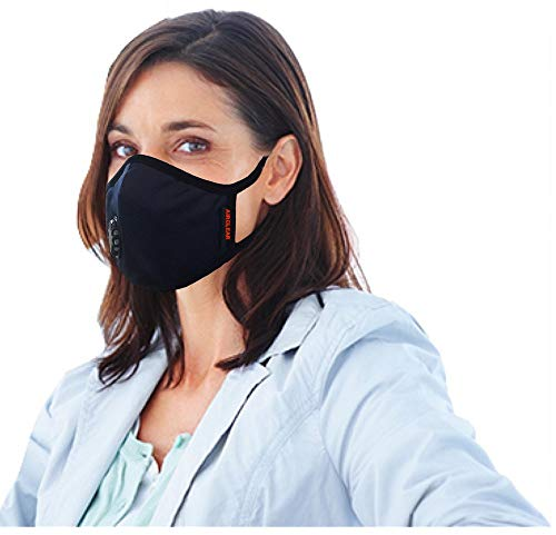 Grin Health AirclearN99 Anti Pollution Reusable Washable Mask with 6 Layer Protective Filters & Activated Carbon (Medium, Blue)