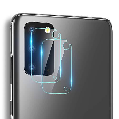 ESR Kameraschutzfolie (2 Stück) kompatibel mit Galaxy S20 [Kratzresistent] [Fingerabdruckresistent] [Ultradünn] Flexible Fiberglasschutzfolie für das Samsung Galaxy S20