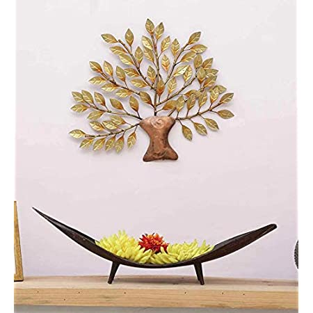 MICROTEX Mini Golden Color Tree for Your Home, Room, Wall Decor (16X1X16 inch), Metal